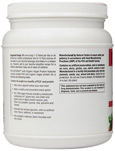 Natural Factors - PGX Satisfast Vegan Protein, Gluten Free + Non-GMO Satisfying Shake, Very Strawberry, 15 Servings (500g)