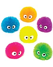 Baker Ross Squeezy Hedgehog Heads for Children - Fun Toy Party Bag Filler Loot Gifts for Kids (Pack of 6)