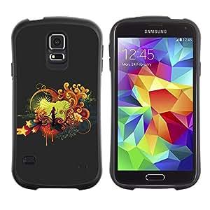 """Pulsar iFace Series Tpu silicona Carcasa Funda Case para Samsung Galaxy S5 , Cantante estrella de la música de la etapa del amor de la mujer del arte"""""""