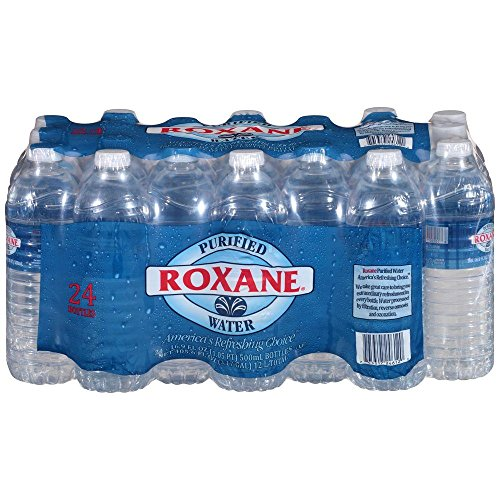 Amazon Com Roxane Purified Bottled Water 1 Case Of 24 Bottles Grocery Gourmet Food