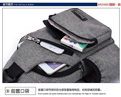 Hongrun Der junge Männer Leinwand single Schulter pack Chest pack Studierende lineare Rampe Paket koreanische Version von der Tide Freizeit Sport Rucksack