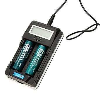 Trustfire eKugo™ TR-011 Digital inteligente pantalla LCD cargador de batería Universal para 18650 14500 26650 y teléfonos móviles Smartphone