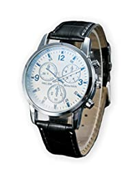 Business Professional Luxury RKWELL Three-Dial Chronograph Men's Watch - Black/White
