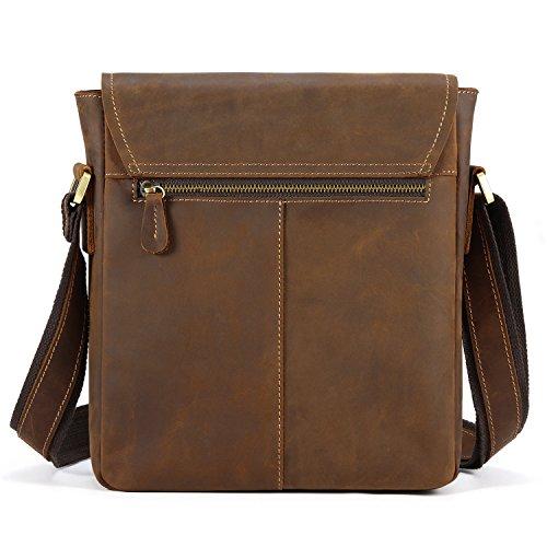 Kattee - Bolso al hombro para hombre marrón marrón small marrón