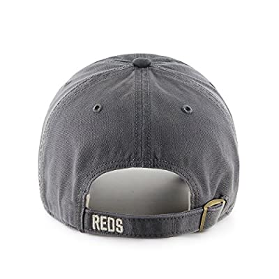 MLB Cincinnati Reds Cronin Clean Up Adjustable Hat, One Size, Charcoal