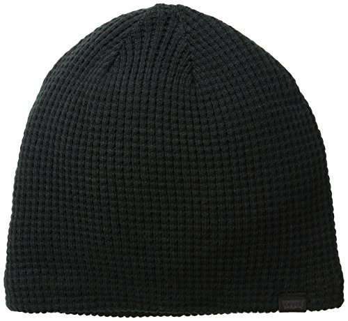Levi's Men's Waffle Knit Beanie with Sherpa Lining,Black,One Size