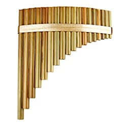 18 Pipes Pan Flute F Key Chinese Traditi...