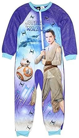 Star Wars Force Awakens Girls One Piece Pajamas Sleeper Set (xs 4/5)