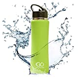 GO Active Insulated Water Bottle with Straw. Stainless Steel Double...