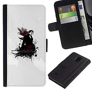 Be Good Phone Accessory // Caso del tirón Billetera de Cuero Titular de la tarjeta Carcasa Funda de Protección para Samsung Galaxy Note 4 SM-N910 // The Son Of Destruction