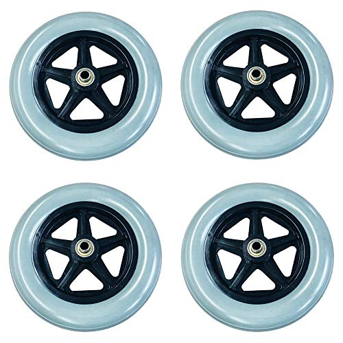 chair Wheels Replacement Wheel Centered Hub 2.1 Inch, 3/8 Inch Ball Bearings(4 Packs) ()