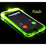 iPhone5S/SE Case, Cool Flashing Light UP To Remind Incoming Call Slim Cover by Phone's LED Refraction, TAITOU Awesome Soft TPU Thin Phone Coque For Apple iPhone 5/SE Green