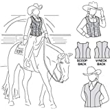 Suitability 4370 Womens & Girls Zippered Show Vests Zip Vest Equestrian Sewing Pattern (Pattern Only)