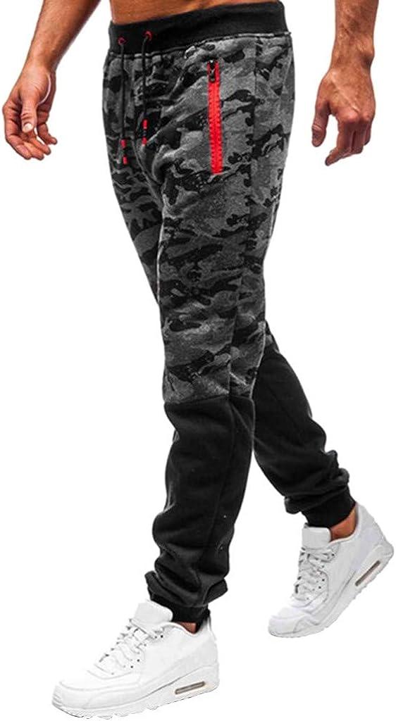 ANJUNIE Men Leisure Zipper Camouflager Overalls Pocket Sport Work Trouser Pants