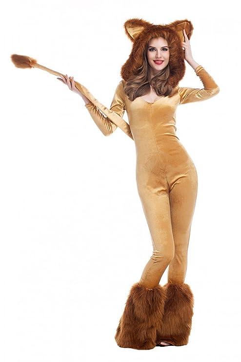 migliore a buon mercato nuova collezione aliexpress Costume di carnevale da leone, sexy, con cappuccio, in ...