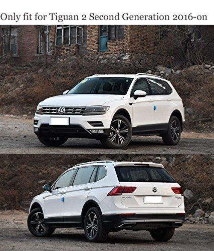 Fibra de carbono Color Side Wing espejo protector para Tiguan 2 segunda generación 2016 2017 2018 SUV accesorios de estilo: Amazon.es: Coche y moto