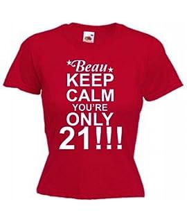Womens Funny Personalised 21st Birthday Present T Shirt Custom Tee