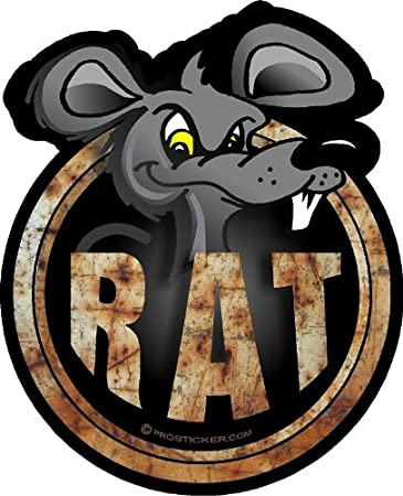 I love my rat decal in 9 colors