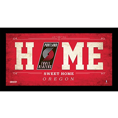 "NBA Portland Trail Blazers Home Sweet Home Sign, 6 x 12"", Red"