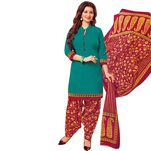 Ladyline Designer Printed Cotton Salwar Kameez Suit Indian - Suit Cotton Salwar