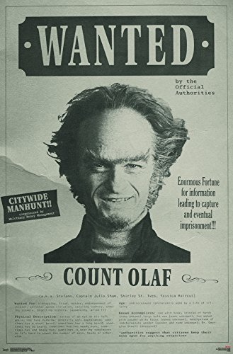 Trends International Series of Unfortunate Events - Wanted Wall Poster, 22.375