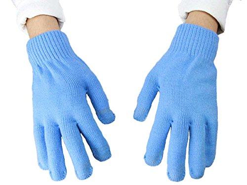 light blue gloves - 9
