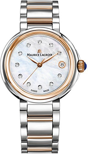 Maurice Lacroix Women's 'Fiaba' Swiss Quartz Silver and Gold and Stainless Steel Casual Watch, Color:Two Tone (Model: FA1007-PVP13-170-1)
