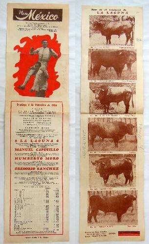 Poster - Cartel : Plaza Toros de MÉXICO : MANUEL CAPETILLO ...