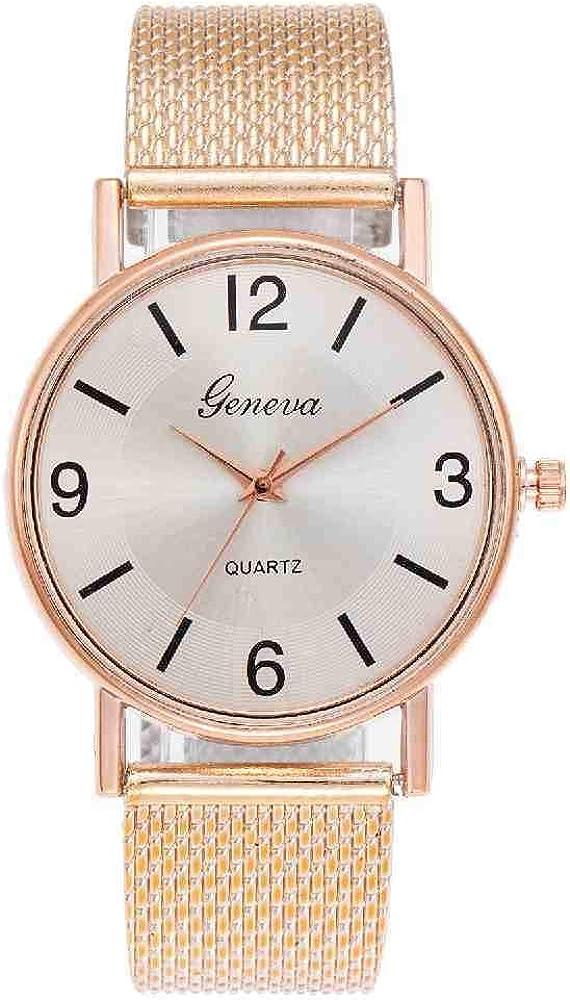 BDDLLM Reloj de Pulsera Moda para mujerSeñoras Relojes Simples Reloj de Pulsera de Cuarzo analógico de imitación de Cuero Reloj deRegalo