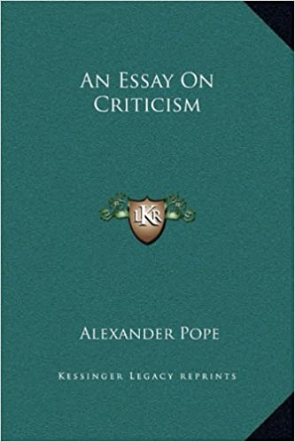 Amazon an essay on criticism alexander pope literary
