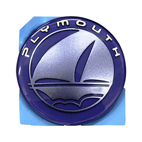 - Iris Blue Plymouth Neon Emblem Decal Nameplate Logo Mopar OEM 99-96 OEM Badge