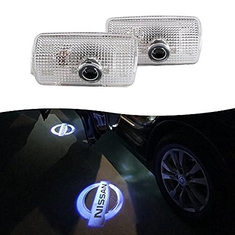 Set di 4 luci per portiera dellauto 3D con logo laser