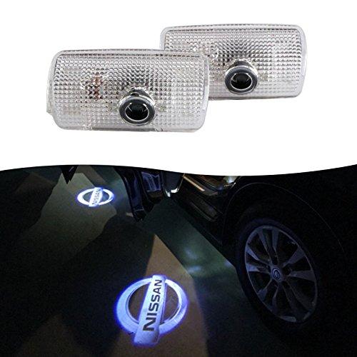 N issan Car Door Door Logo 3D Laser LED Shadow Light Sport Car Door Projector Welcome Projector Lamp Logo Light F88-152