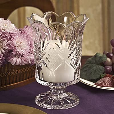 Dublin Collection Crystal Hurricane Votive Candle Holder by Godinger