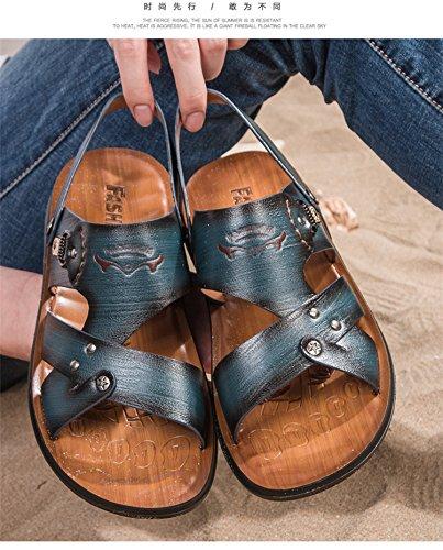 estate Il nuovo Uomini sandali Tempo libero moda sandali traspirante Uomini Spiaggia scarpa Uomini sandali ,blu,US=9.5,UK=9,EU=43 1/3,CN=45