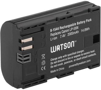 Watson LP-E6 N batería de litio (7,4 V, 2000 mAh) – de repuesto para Canon LP-E6 LP-E6 N (Original): Amazon.es: Electrónica