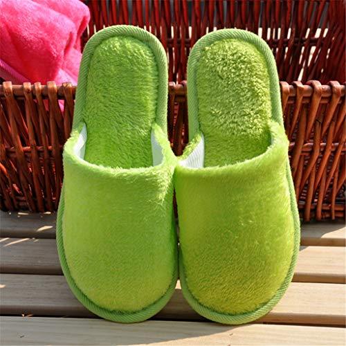 Desechables No green Fondo Algodón Zapatillas Lqfld Hospitalidad Suave Pares Caramelo Interior Antideslizante Zapatillas Color 10 De Green Caseras SFExxn