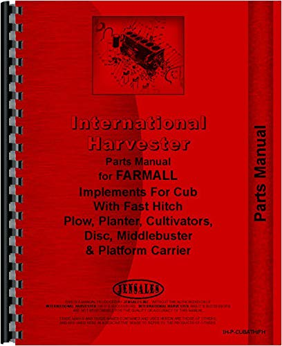 amazon com: farmall cub lo-boy tractor fast hitch attachments parts manual:  home improvement