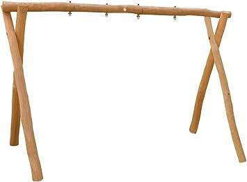 b+t KIGA144-R-280 - Balancín para exteriores (doble columpio, con rodamientos, 280 cm): Amazon.es: Jardín