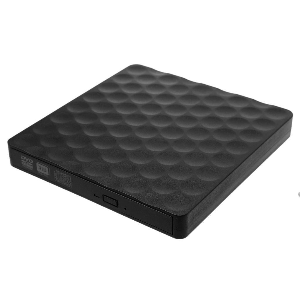 Yuly New USB 3.0 External CD DVD-RW Drive Rom Rewriter Burner Writer For Laptop Desktops(#001)