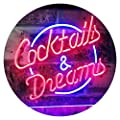 AdvpPro 2C Cocktails & Dreams Bar Beer Wine Drink Pub Club Dual Color LED Neon Sign st6-i2079