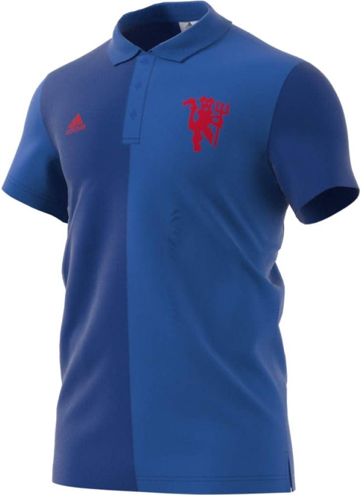adidas MUFC SSP Polo Línea Manchester United FC, Hombre, Azul ...
