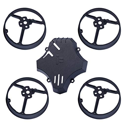 iFlight Ducted Propeller Guard + Bottom Plate Protective Guard Drone Bumper for CineBee 75HD Micro Drone FPV Racing Quadcopter (Black)