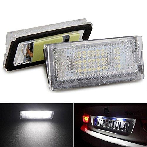 Bombillas para luces para matrícula KATUR, luz blanca 18 LED, compatibles con BMW, aportan estilo a tu coche, pack de 2 unidades: Amazon.es: Coche y moto
