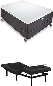 Classic Brands Ajustable Comfort Bed Base, Twin XL + Classic Brands 12-Inch Cool Gel Memory Foam Mattress