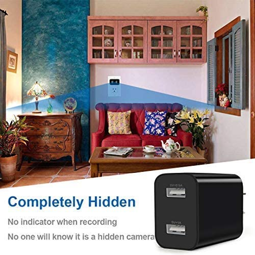 Spy Camera Wireless Hidden WiFi Camera with Remote Viewing 2019 Newest Version 1080P HD Nanny