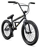 Mongoose Legion L60 Freestyle BMX Bike for Intermediate to Advanced Riders, Featuring Hi-Ten Steel Frame and Micro Drive 25x9T BMX Gearing with 20-Inch Wheels, Black/Yellow