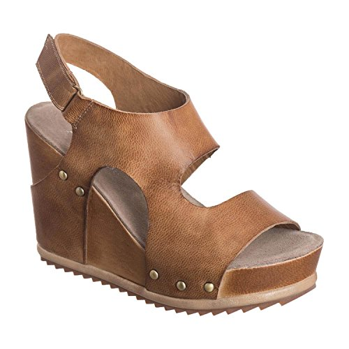 Antelope Women's 732 Taupe Leather Hi Side Cut Wedge 38 by Antelope