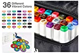 Fabric Markers Permanent 36 Colors of Ohuhu Dual