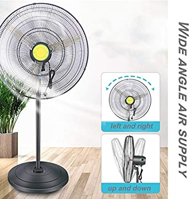 Ventiladores Industriales Ventilador de Pedestal de 350W vatios Que enfría silencioso, Ventilador eléctrico Industrial al Aire Libre Grande del Piso, circulador de Aire frío de Alta Velocidad: Amazon.es: Hogar